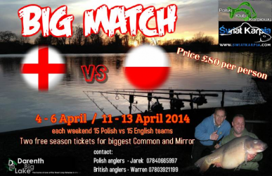 BIG MATCH  - Anglia vs Polska